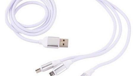 USB kabel se třemi koncovkami