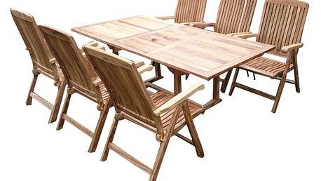 Bali II. teakový set 1+6 (zahradní nábytek teak)