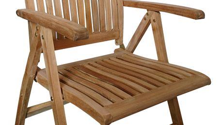 America II. teaková polohovací židle (zahradní nábytek teak)