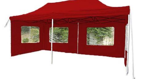 Garthen PROFI 9484 Zahradní párty stan 3 x 6 - nůžkový - červený