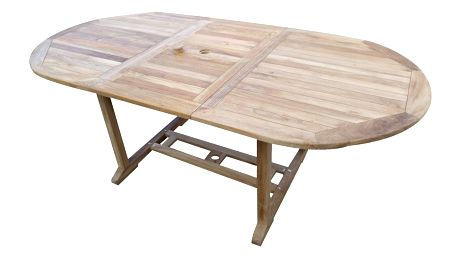 Alfi oválný teakový rozkládací stůl (Zahradní stůl z teaku)
