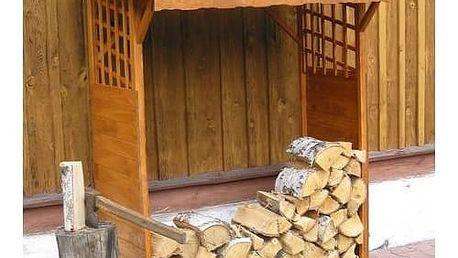Přístřešek na dřevo Rojaplast dřevěný