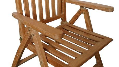 Alfi teaková polohovací židle (Zahradní židle z teaku)