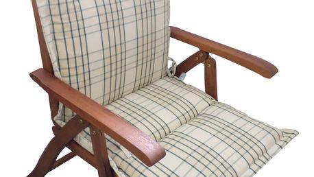 Polstr Smetanová kostka na polohovací židli (Polstr na zahradní křeslo)