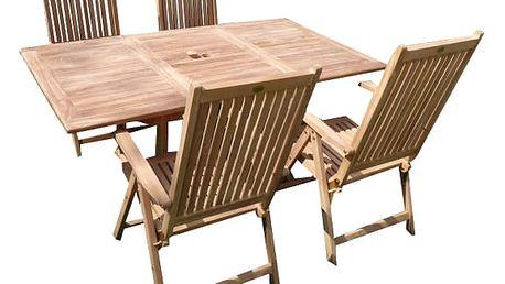 Palu teakový set 1+4 (zahradní nábytek teak)