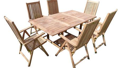 Palu teakový set 1+6 (zahradní nábytek teak)