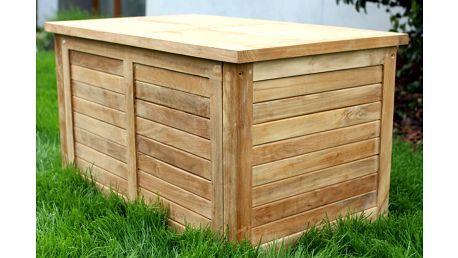 Teaková truhla I. na polstry 100 cm (zahradní nábytek teak)