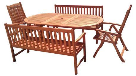 Viet eukalyptový set 1+2+2 s certifikátem FSC (Zahradní nábytek dřevěný eukalyptus)