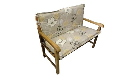 Polstr Béžová kytka na lavici (Polstr na zahradní křeslo)