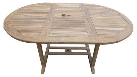 Teakový zahradní stůl Jepara - rozkládací, SLEVA 2000 kč (Zahradní stůl z teaku)