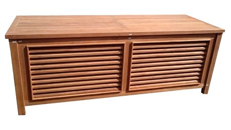 Teaková truhla II. na polstry 160 cm - 2.jakost (zahradní nábytek teak)