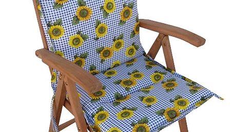 Polstr Slunečnice na polohovací židli (Polstr na zahradní křeslo)