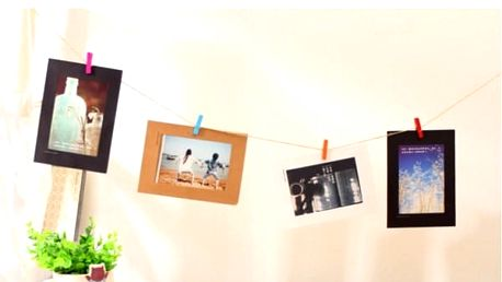 Papírové dekorativní rámečky na fotky