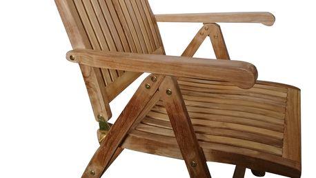 America I. teaková polohovací židle (zahradní nábytek teak)