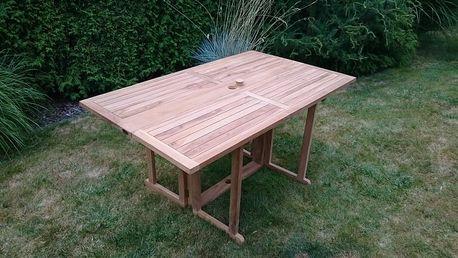 Butterfly/Beverly hranatý teakový skládací stůl (Zahradní stůl z teaku skládací)
