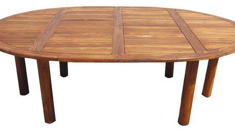Teakový zahradní stůl PALU - ovál - VÝPRODEJ (Zahradní stůl z teaku)