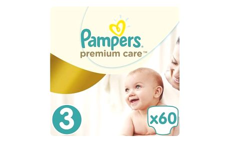 Plenky Pampers Premium Care Midi vel. 3, 60 ks