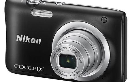 Digitální fotoaparát Nikon Coolpix A100 černý + DOPRAVA ZDARMA