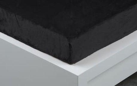 XPOSE ® Prostěradlo mikroflanel Exclusive dvoulůžko - černá 200x220 cm