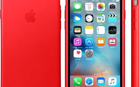Apple iPhone 6s Leather Case, červená - mkxx2zm/a