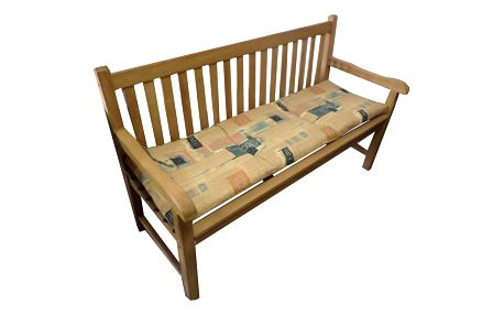 Polstr Béžovo - zelený na lavici (Polstr na zahradní křeslo)
