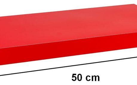 STILISTA 31047 Nástěnná police VOLATO - lesklá červená 50 cm
