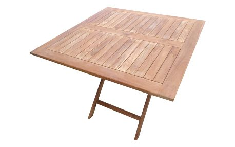 Roger II. hranatý teakový skládací stůl (Zahradní stůl z teaku)
