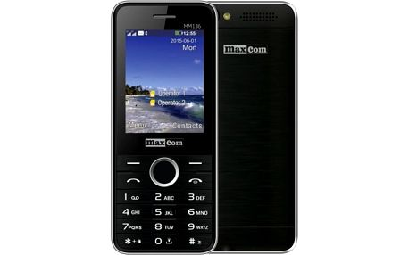 Maxcom MM136, Dual Sim, černá - MM136BK