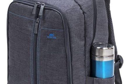 RivaCase batoh 7560, šedá - RC-7560-GR + Zdarma Sluchátka KNG Cyclone do uší, modrá v ceně 319 Kč
