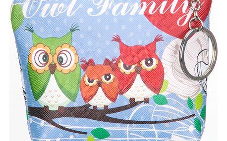 Fashion Icon Peněženka Owl Family sovičky mini na drobné mince
