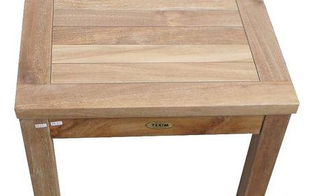 Gufi hranatý teakový stolek (teakový malý stoleček)