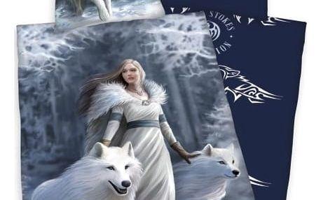 Herding Bavlněné povlečení Anne Stokes White Wolves, 140 x 200 cm, 70 x 90 cm