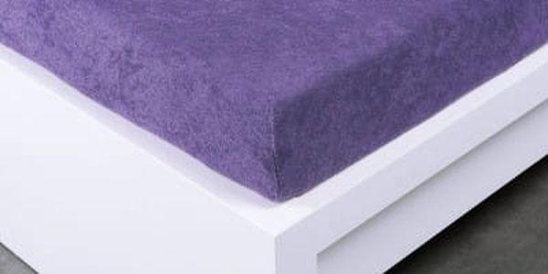 XPOSE ® Froté prostěradlo Exclusive dvoulůžko - fialová 160x200 cm