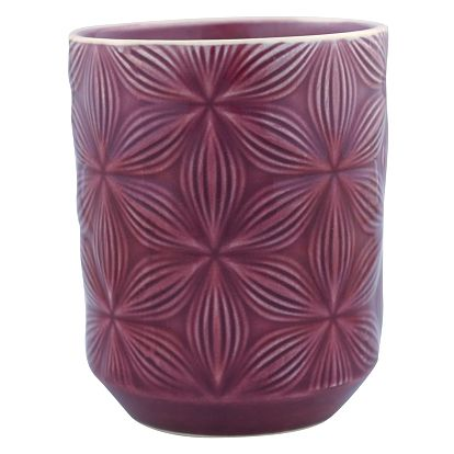 GREEN GATE Keramický šálek Kallia plum, fialová barva 250 ml