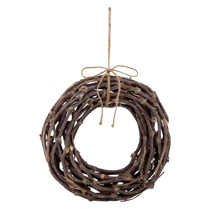 IB LAURSEN Dekorativní věnec z větviček - 40cm, hnědá barva, dřevo