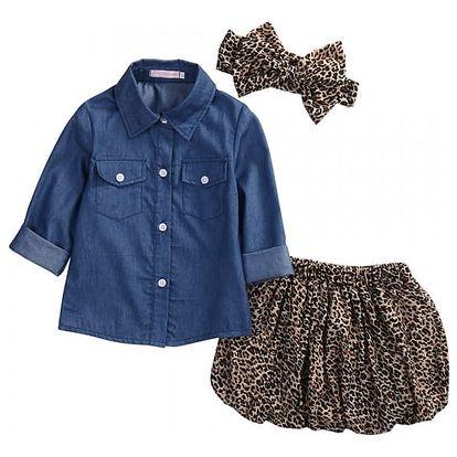 Set košile, sukně a mašle pro holčičky