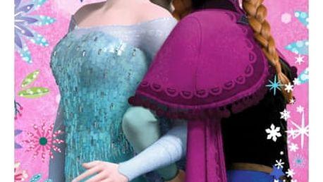 Jerry Fabrics Osuška Ledové království Frozen pinkie star, 70 x 140 cm