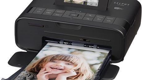 Canon Selphy CP-1200 černá + (papíry RP-54) - 0599C013