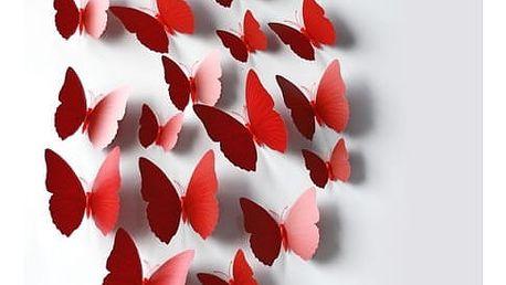 Dekorační nalepovací motýlci - 3 barvy