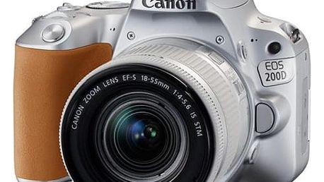 Digitální fotoaparát Canon EOS 200D + EF18-55 IS STM (2256C001) stříbrný