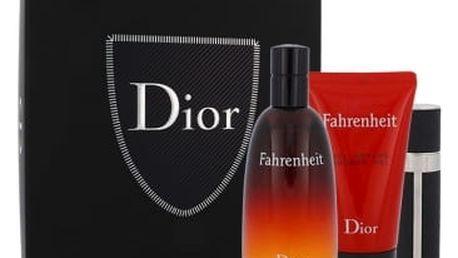 Christian Dior Fahrenheit dárková kazeta pro muže toaletní voda 100 ml + sprchový gel 50 ml + toaletní voda 3 ml