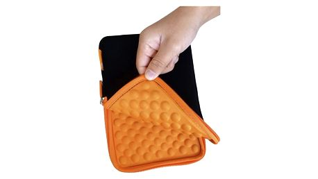 """Pouzdro na tablet GoGEN neoprenové pro 9,7"""" (GOGTA9CASEO) černé/oranžové"""