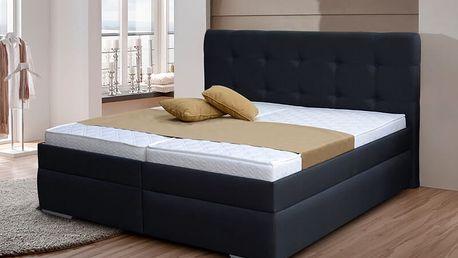Zvýšená manželská postel INGRIDA 2 180x200 cm vč. roštu a ÚP