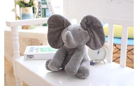 Zpívající plyšový slon pro děti - dvě barvy