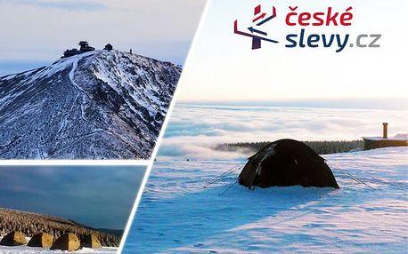 Přespání ve stanu na horské pláni v Krkonoších pro 2 osoby - podzim a zima 2017- jaro 2018 - Jedinečný zážitek