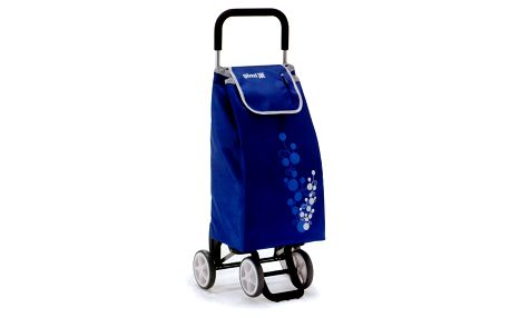 Nákupní taška na kolečkách TWIN modrá blue vozík na kolečkách