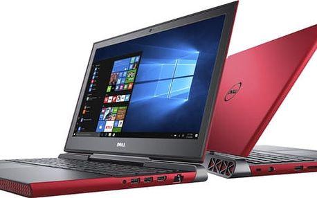 """Dell Inspiron 7567/i5-7300HQ/8GB/1TB SSHD/4GB Nvidia 1050/15,6""""/FHD/Win 10 64bit,červený"""