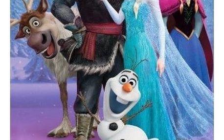 Jerry Fabrics Osuška Ledové království Frozen Heart, 70 x 140 cm