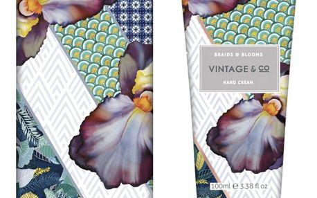 HEATHCOTE & IVORY Krém na ruce v kovové krabičce Braids & Blooms 100 ml, modrá barva, multi barva, kov, plast