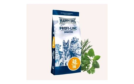 Granule HAPPY DOG Profi-Linie 26/16 Sportive 20 kg + Doprava zdarma